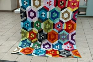 Annette's hexagon quilt